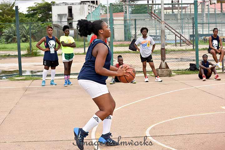 Basketball training session at the just concluded Ejike Ugboaja Foundation Summer Camp