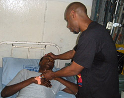 Ejike Foundation Community Outreach - Visiting and Consoling the Sick at the Hospital